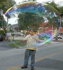 Bubble show in Lexington